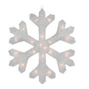 Northlight Seasonal Tinsel Snowflake Christmas Window Decoration