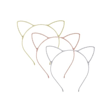 Lux Accessories Gold Brown Silver Tone Wire Cat Ears Fancy Fashion Heaband 3pcs headband, cat ears, fashion headband, wire, hair accessories, womens accessories, fashion accessories, fashion jewelry, giftsable, party accessories, gifts for her, party accessories, party giveaways