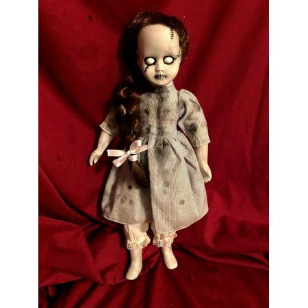 OOAK Dorothy of Oz Frankenstein Zombie Girl Gothic Creepy Horror Doll Art by Christie Creepydolls (Gothic Doll Makeup)