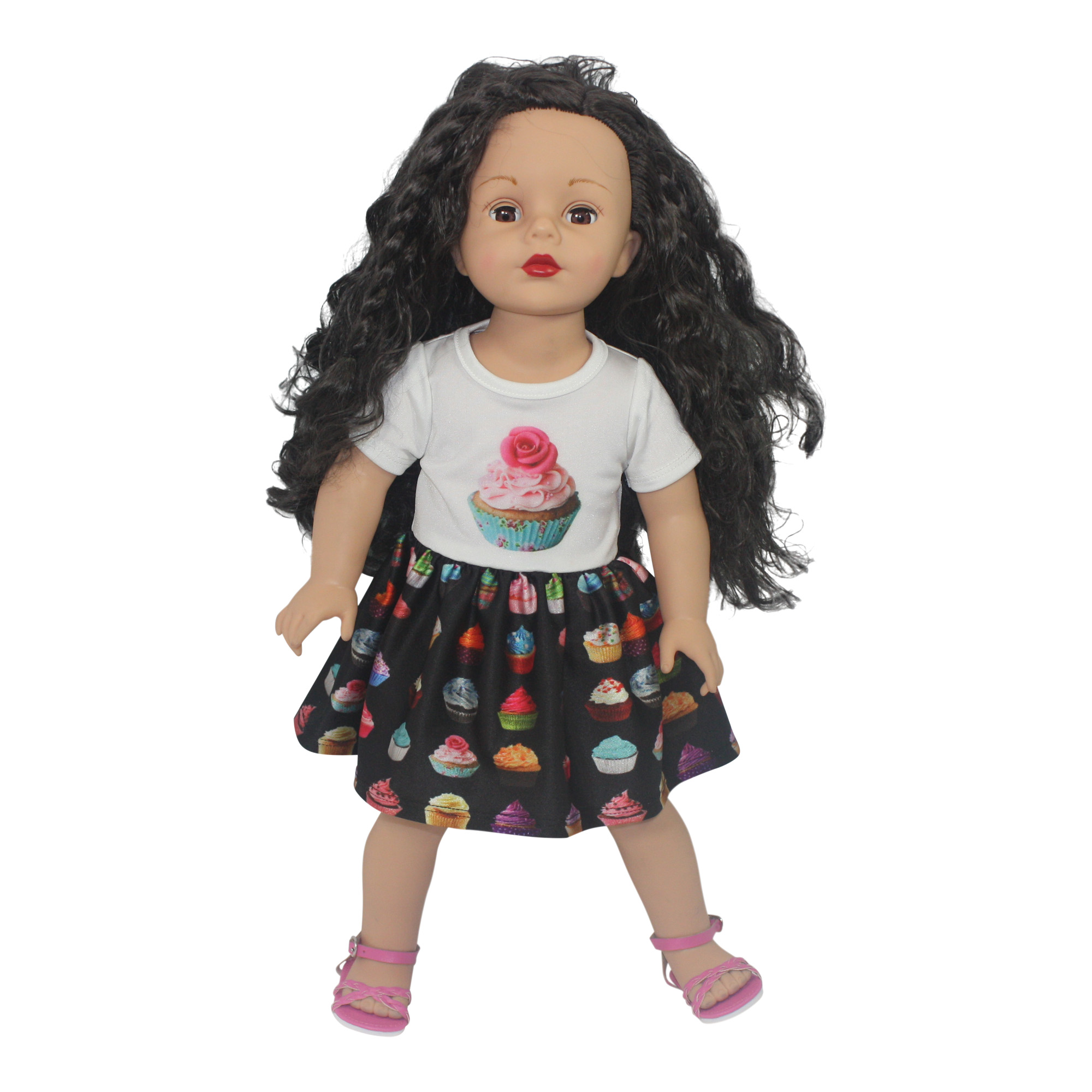 "Ari and Friends Yummy Cupcake Dress Fits 18"" American Girl Dolls and other 18 inch... by Dream Big Wholesale Doll Clothes"