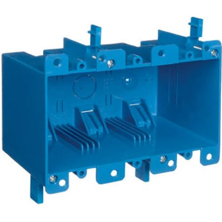 Gang Old Work Box (Carlon B355R Switch/Outlet Box, Old Work, 3 Gang, 5.72-Inch Length by 2.79-Inch Width by 3.69-Inch Depth, Blue, 1-Pack, The product is 3G Old Work Box By Thomas Betts)