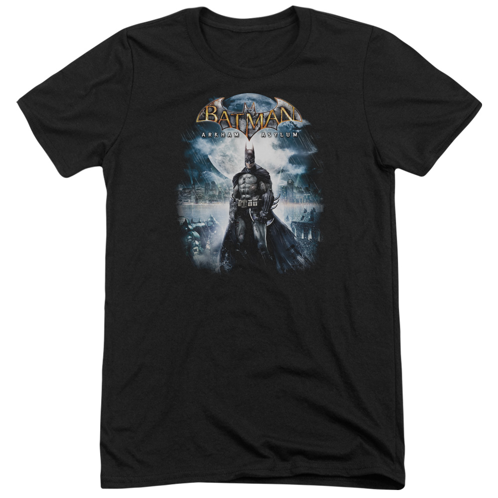 Batman Arkham Asylum Game Cover Mens Tri-Blend Short Sleeve Shirt
