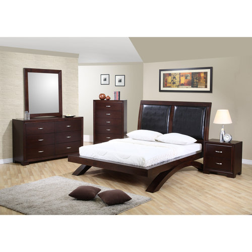 Picket House Furnishings Zoe Queen Platform Bed w  Upholstered Headboard by