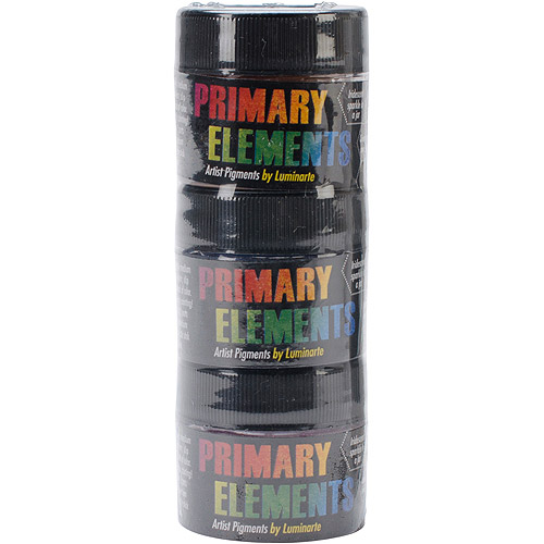 Primary Elements Artist Pigments 10ml 3/Pkg-Emerald Isle