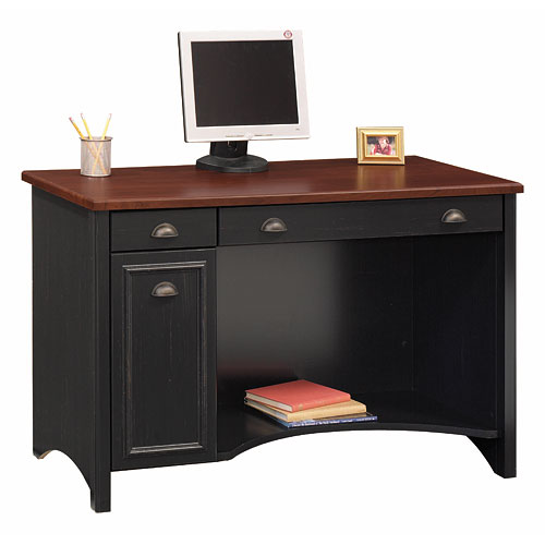 Bush Stanford Collection Computer Desk, Antique Black and Cherry