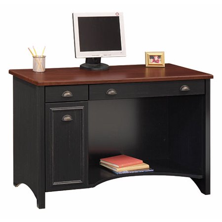 Bush Stanford Collection Computer Desk Antique Black And Cherry