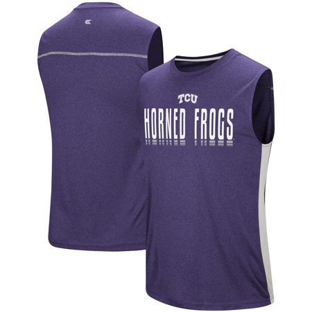 Tcu Horned Frogs Baseball - TCU Horned Frogs Colosseum Hanging Curve Sleeveless T-Shirt - Purple