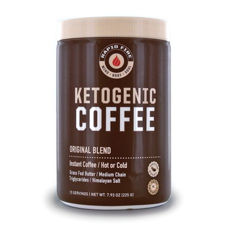 Rapid Fire Ketogenic Coffee Instant Coffee Mix, Keto Diet, 7.93 oz., 15
