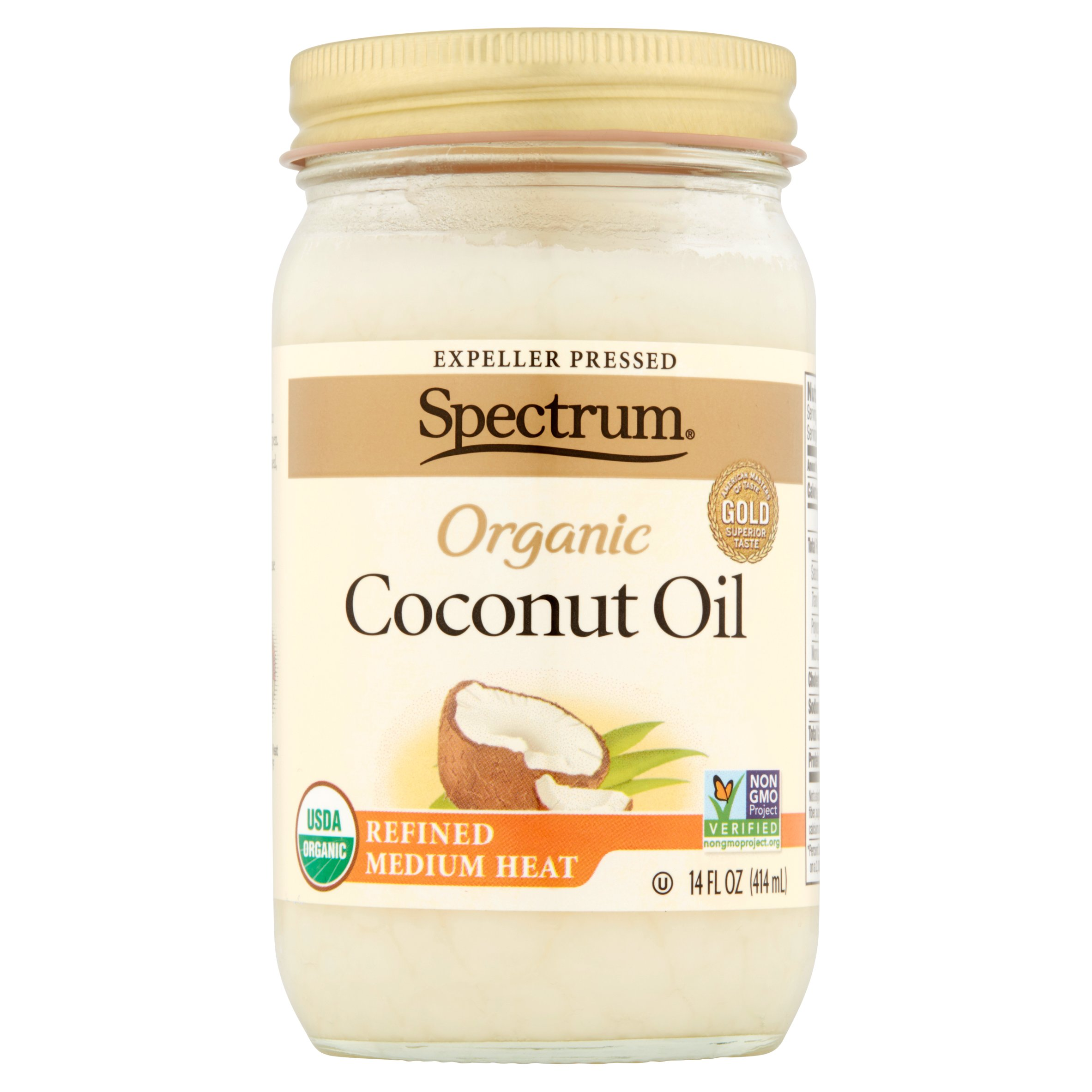 Spectrum Organic Coconut Oil, 14 fl oz