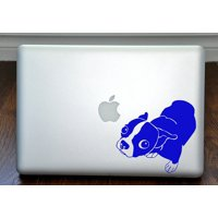"Molly the Boston Terrier Blue Decal for 13"" Macbook"