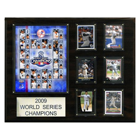 C&I Collectables MLB 16x20 New York Yankees 2009 World Series Champions (30 60 90 Day Plan Team Leader)