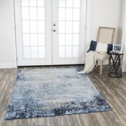 Rizzy Home Encore Blue Traditional Overdye Shag 8' x 10' Area Rug