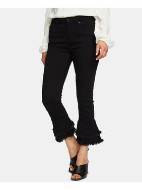1. STATE Womens Black Ruffle Hem Cropped Skinny Jeans  Size: 27 Waist