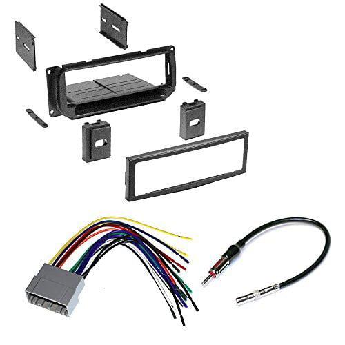 car stereo radio kit dash installation trim bezel w antenna wiring harness for select chrysler