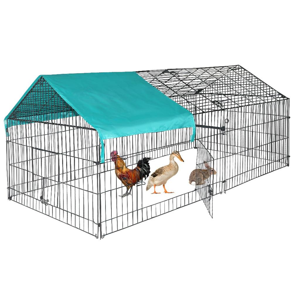 Chicken Kennel Outdoor Pet Play Pen Puppy Dog Cat Rabbit Metal Cage Enclosure 88