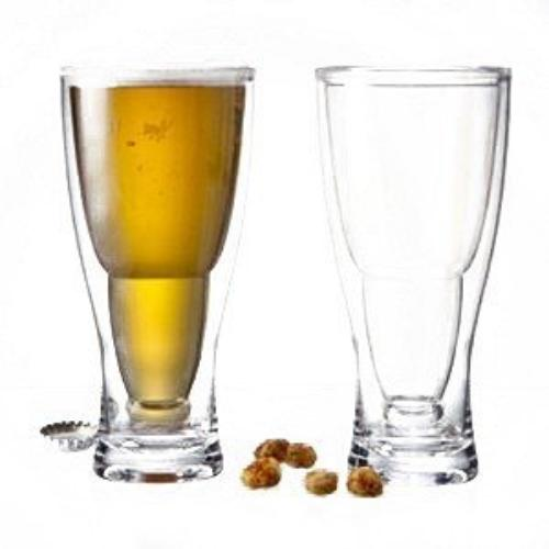 Prodyne HOPSY-TURVY Upside Down Beer Glass, 2 Pack