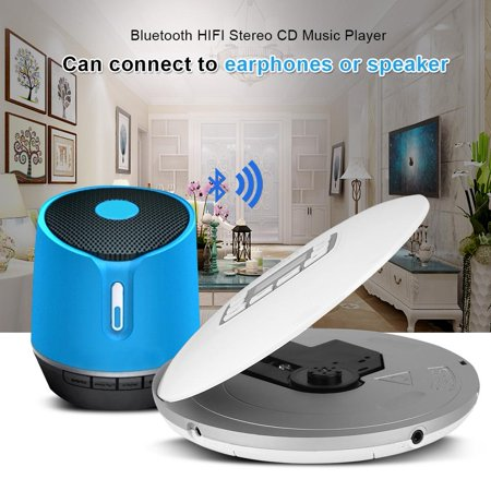 Anauto Stereo CD Player, CD Player Portable,HOTT Portable Shockproof Bluetooth HIFI Stereo CD Music Player with Earphones (Cd Player Hifi)