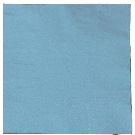 Exquisite Disposable Beverage & Cocktail Napkins - Bulk 50 Count - Light Blue - High Quality Paper Napkins for Dinners, Luncheons, Birthday Parties, Weddings, Bridal & Baby Showers