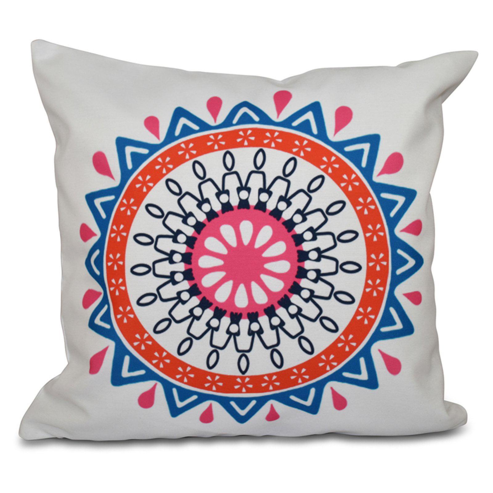 E by Design Happy Hippy Mod Decorative Pillow