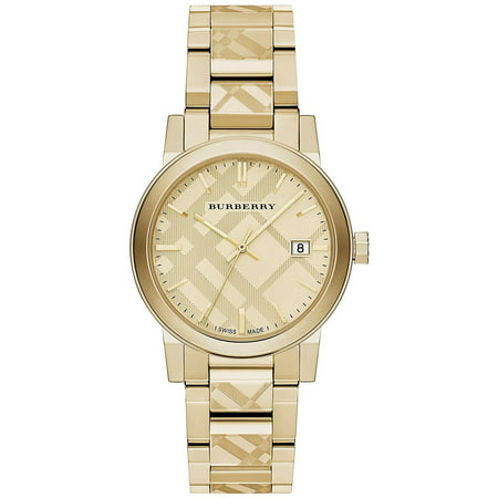 Burberry Unisex Swiss Gold Ion-Plated Stainless Steel Bracelet Watch 38mm