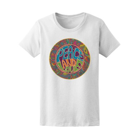 Hippie Style Sign Peace And Love Tee Women's -Image by Shutterstock