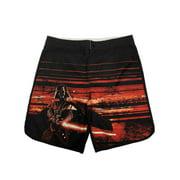 Mens Black Red Star Wars Darth Vader Lightsaber Swim Board Shorts Trunks X-Large