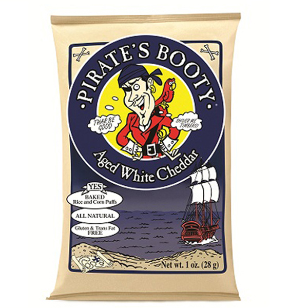 Pirate's Booty Aged White Cheddar 1 Oz Bags - Pack of 24
