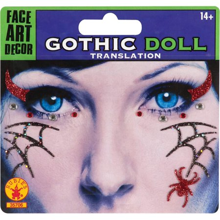 - Gothic Doll Face Mask Tattoo