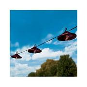 Gerson 2201420 Patio Light Set, Bronze Metal, 10 Clear Bulbs