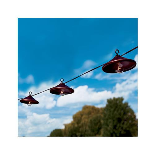 Gerson 2201420 Patio Light Set, Bronze Metal, 10 Clear Bulbs