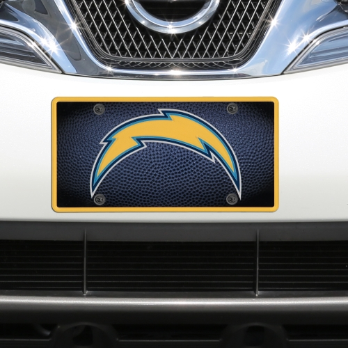 Los Angeles Chargers Teamball Acrylic Cut License Plate - No Size