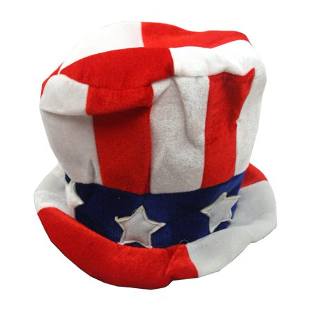 Red White And Blue Patriotic Felt Top - Patriotic Top Hat