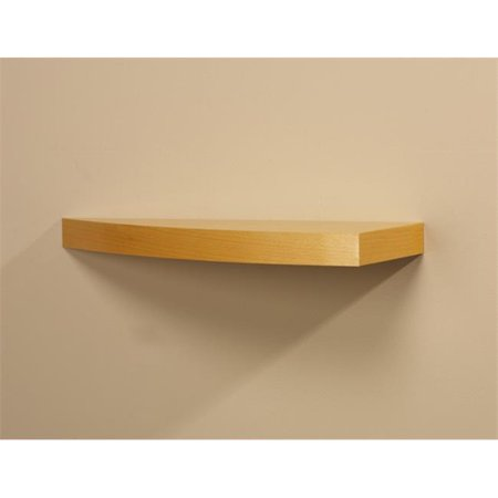 Amore Designs GRD1024BE Wood Shelving Grande Beech Curved Shelf (Beech Beechwood Shelf)