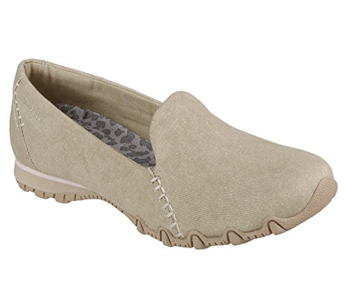 Skechers Relaxed Fit Bikers Smokin Womens Slip On Loafers Natural 6