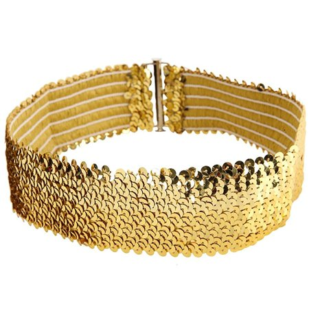 dasha sequin belt for dance, cosplay, and costuming gold one size (Deadpool Belt Cosplay)