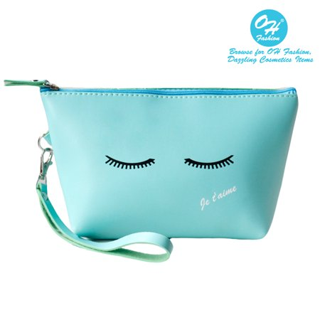 OH Fashion Women Travel Cosmetic Bag Ciao Bella, Makeup case organizer, toiletry bag, ideal for storage, make up brushes, manicure pedicure, for handbag 1 count