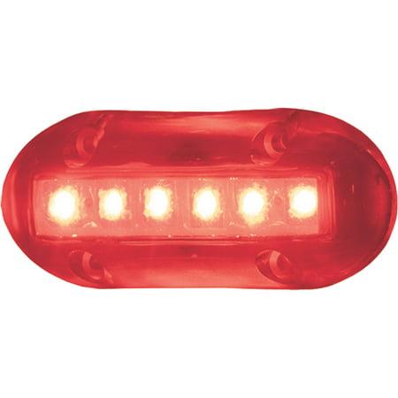 T-H Marine LED-39055 Waterproof High Intensity 6 Red LED 180 Lumens Underwater Lights