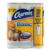 Charmin Basic Bathroom Tissue Double Rolls - 12 CT