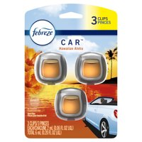 Febreze Car Odor-Eliminating Air Freshener, Hawaiian Aloha, 3 ct