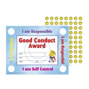 Hayes Good Conduct Stick-To-It Award Certificate, 11 x 8-1/2 inches