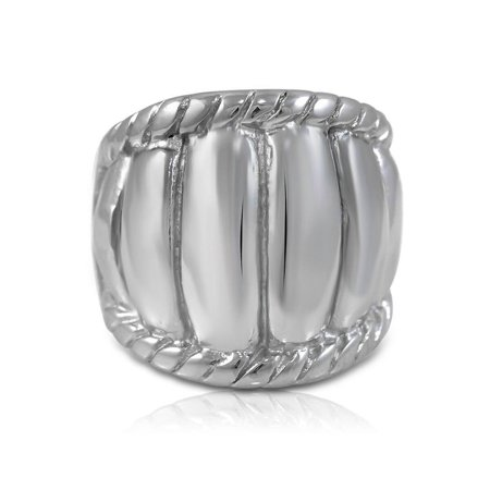 Pascollato Jewelry Chunky Stainless Steel Women's Big Cocktail Ring