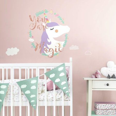 Bee Decals (Harriet Bee Grandberry Unicorn Magic Peel and Stick Giant Wall Decal)
