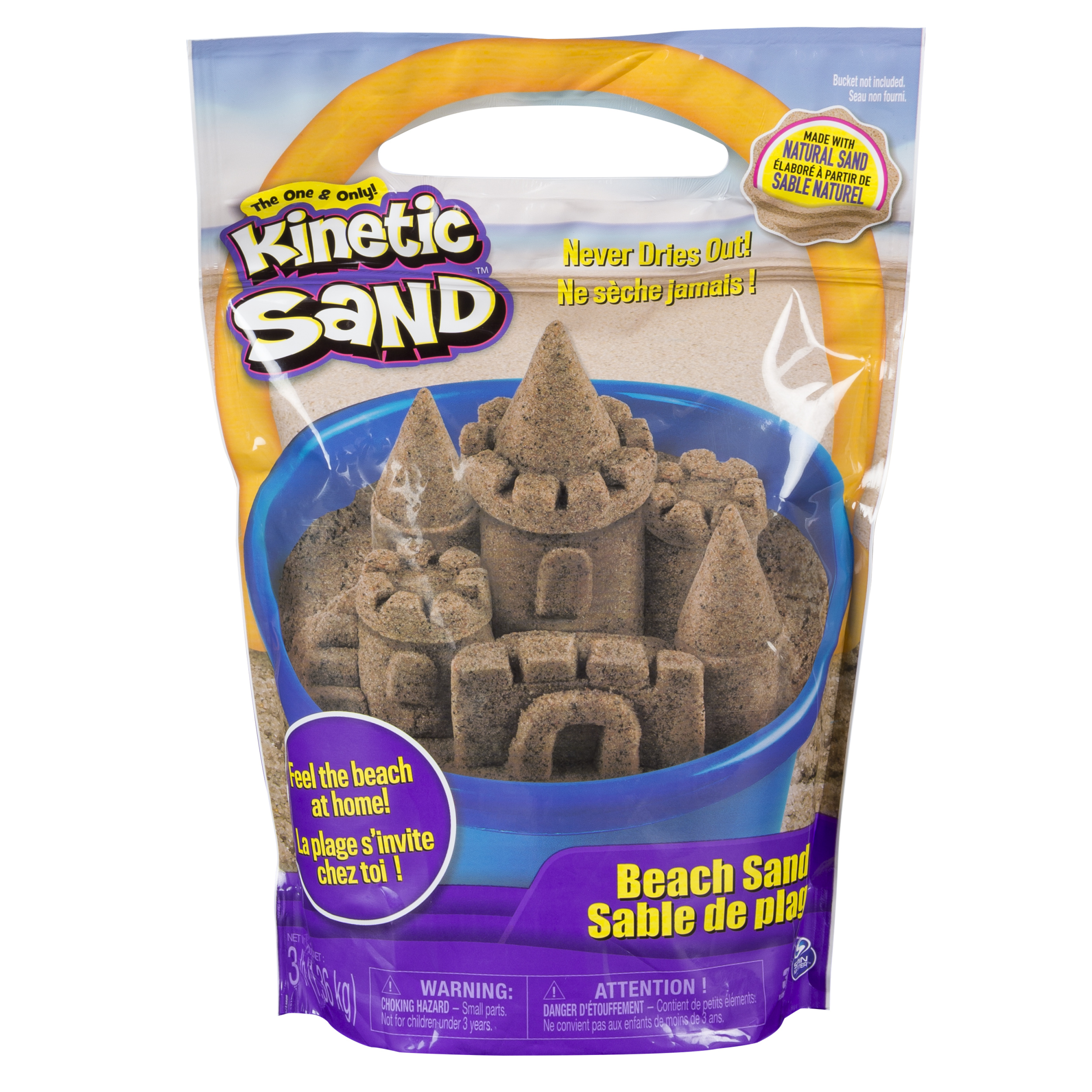 The One and Only Kinetic Sand, 3lbs Beach Sand for Ages 3 and Up