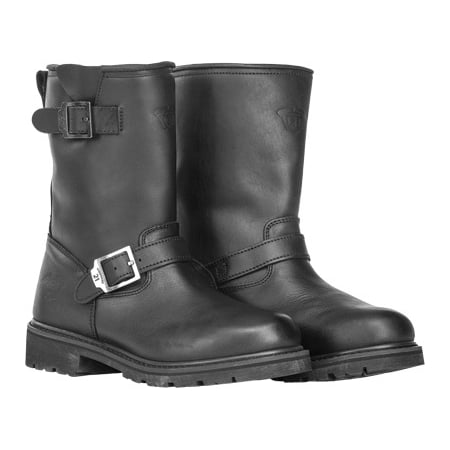 Highway 21 Primary Engineer Mens Low Leather Boots Black