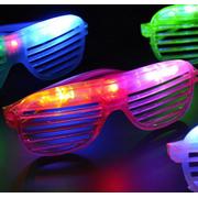 c85f319e3c78 LWS LA Wholesale Store 12 Light Up Shutter Glasses LED Shades Sun Glasses  Flashing Rock Wedding