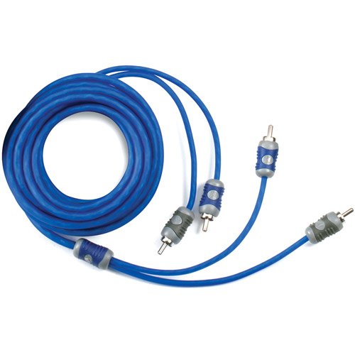 Kicker K-Series 2-Channel RCA Interconnect Cable, 5m, Blue