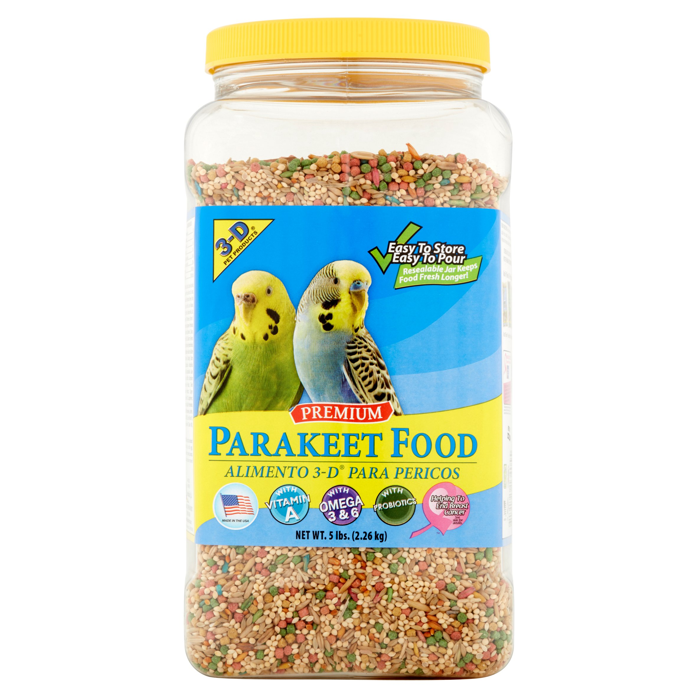 3-D Pet Products Premium Parakeet Food, 5 lbs