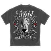 Don't Hate The Player, Hate The Game Poker T-Shirt by