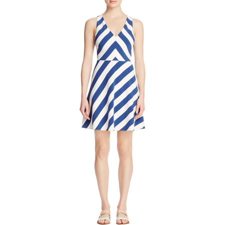 Cooper & Ella Womens Mary Criss-Cross Back Striped Casual (Women's Sailor Dress)