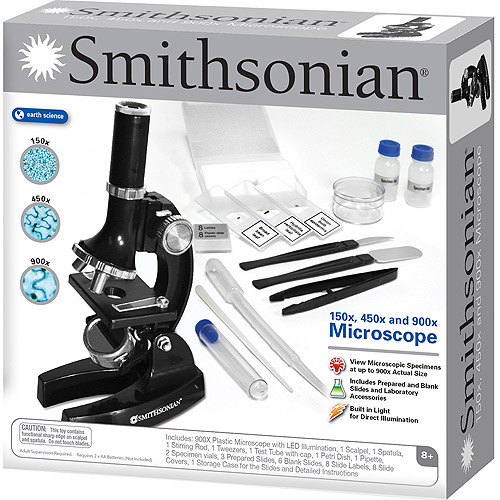 Smithsonian 150x/450x/900x Microscope Kit